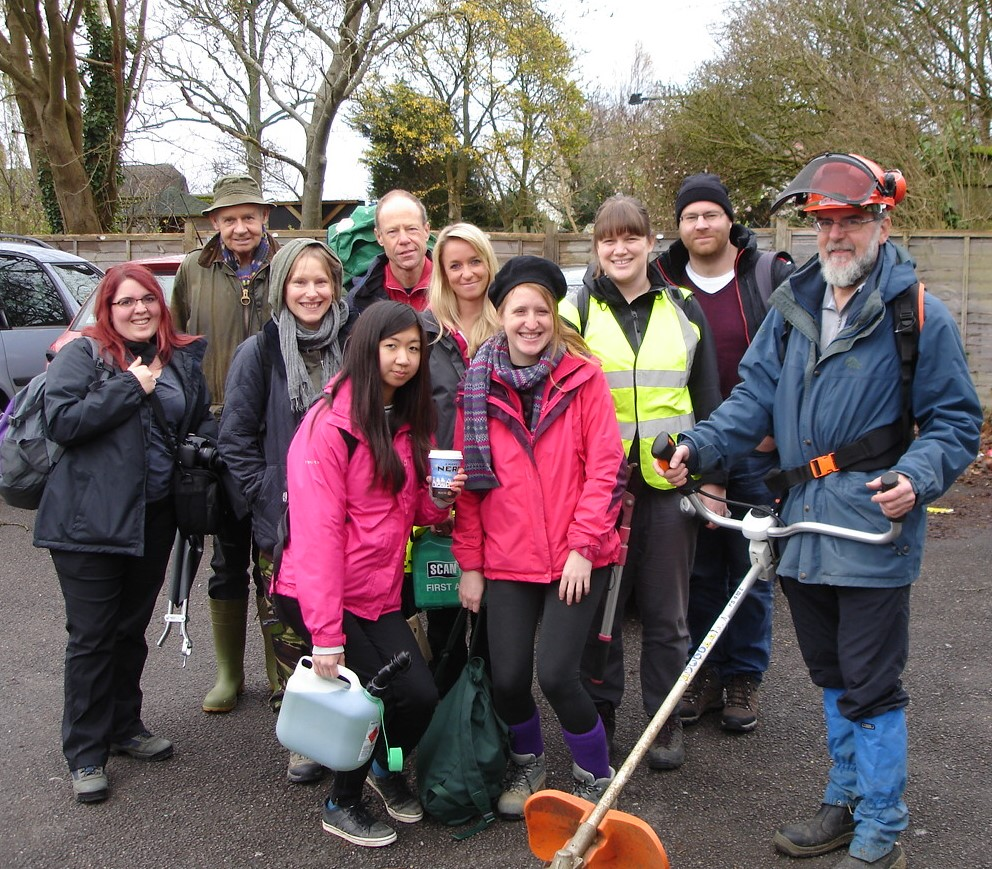 4 Vale Path Volunteers with volunteers from Ramblers central office Nov 2015. Photo by Jim Parke
